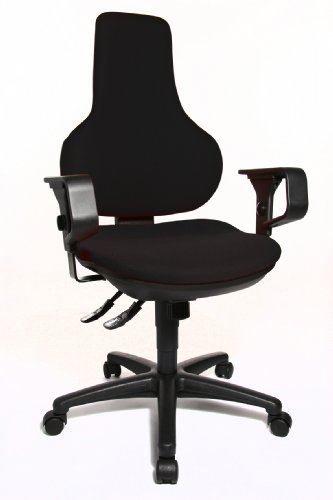 Get Topstar Ergo Point SY Swivel Chair with Free Moveable Backrest – Black Reviews