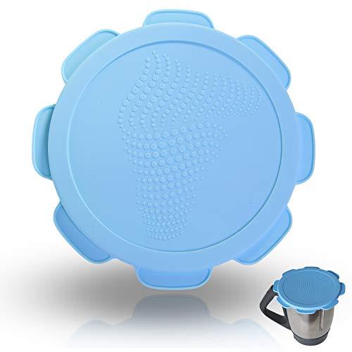 Silikon-Deckel für Vorwerk Thermomix TM5 TM6 Mixtopf. Wasser- und luftdichter Auslaufschutz. Mixcover das unverzichtbare Zubehör für ihre Küchen-maschine (Skinny-dip Blue)