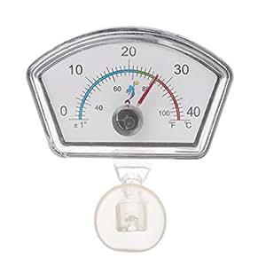 CADANIA Termometro Acquario Pointer Serbatoio di Pesce Temperatura Quadrante Sommergibile Ventosa - Ventaglio