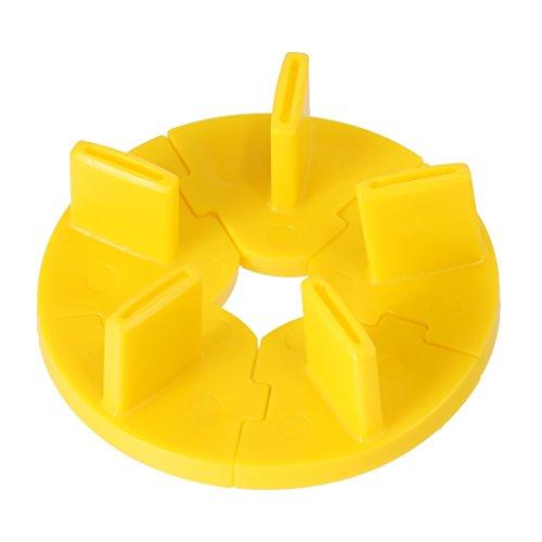 Rack Pratique du Cadre de Formation Nail Art Plastique Présentoir Fixe Jaune