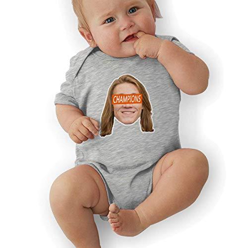 Babybekleidung Jungen Mädchen T-Shirts, Unisex Baby Onesie Bodysuit Orange Clemson Lawrence Champions Face Short-Sleeve Bodysuit for Boys and Girls -
