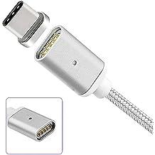 Nailon trenzado tipo C Cable De Carga Magnético USB transferencia de datos Plomo Tipo C USB C Universal conector [soporta carga rápida] para Lenovo ZUK borde, Lenovo ZUK Z2, Lenovo ZUK Z2Pro, Lenovo ZUK Z1