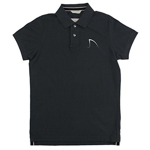 Backen: Amity Surf Shack Herren Logo weiß Vintage Pique Polo - Vintage Charcoal