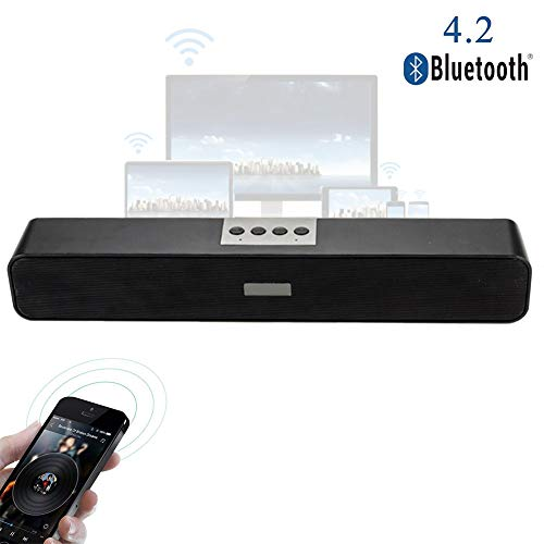 Speaker-EJOYDUTY Tragbare Bluetooth Stereo USB Sound Bar, Multimedia Musik-Player Resonanzkörper, Lautsprecher für Computer-Laptop-Desktop-PC Notebook Smartphone MP3 MP4
