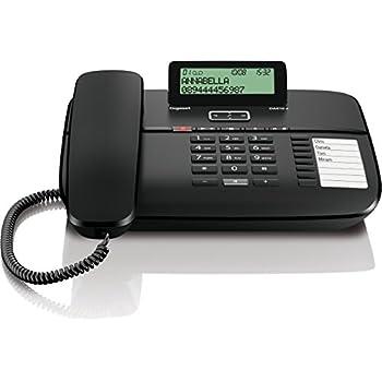 wei/ß h/örger/ätekompatibel klassisches Schnurtelefon mit Anrufanzeige Gigaset DA611 Komfort-Telefon Direktruf und Freisprechfunktion