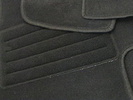 Preisvergleich Produktbild FUSSMATTEN SCHWARZ VON PETEX 100% PASSGENAU FÜR OPEL OMEGA B LIMOUSINE + CARAVAN/KOMBI BJ. 03/94-07/03 8-TEILIG ORIGINAL OPEL-HALTER 9139