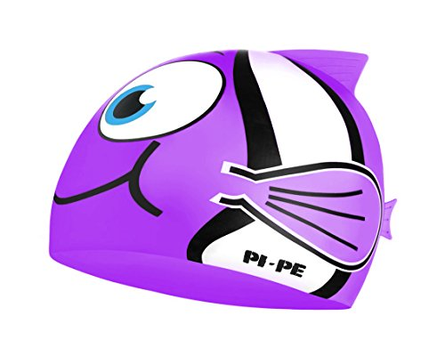 PI-PE Kinder Badekappe Fishy (Lilac, One Size)
