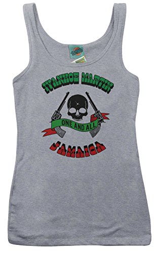 Harder They Come Inspired Jimmy Cliff Ivan Martin Ringer, Women's Vest, Small, Heather Grey (Damen T-shirt Ringer Musik)