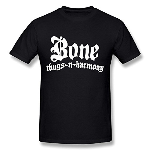 Herren's Bone Thugs N Harmony Hip Hop T-shirt DeepHeather Large (Bone Thugs N Harmony-shirt)