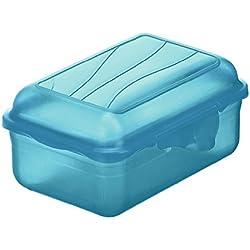 Rotho 1718906113Funbox–Portamerenda contenitore portapane, BPA e privo di sostanze nocive, prodotto in Svizzera, circa 12,5x 9x 5,8cm (LxPxA), Blu Vesper Box, plastica, aqua blu, 12x 9x 6cm