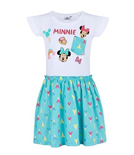 (Disney Minnie Mädchen Kleid - blau - 92)