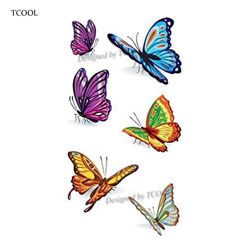 Sdefgh adesivo tatuaggio 3pcs butterfly women temporary tattoo sticker tattoos for men fashion kids children hand tatoo 10.5x6cm