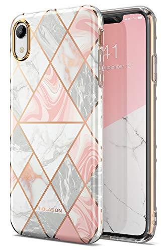 i-Blason Hülle für iPhone XR Handyhülle Slim Case Premium Schutzhülle Hybrid Backcover Etui [Cosmo Lite] 6.1 Zoll, Marmor -