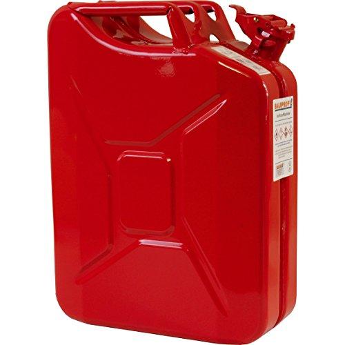 20 Liter Stahlblechkanister GGVS mit Sicherungsstift ROT Benzinkanister Metallkanister 20L