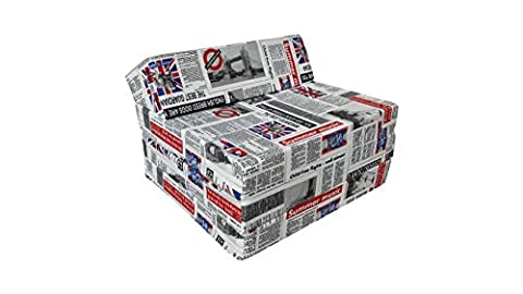 Fold Out Guest Chair Z Bed Futon Sofa for Adult and Kids folding mattress (LONDON2, 100% cotton )