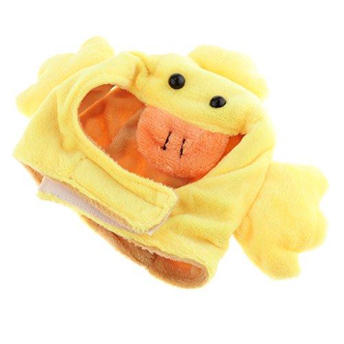 Kostüm Pet Ente - LOVIVER Cute Pet Kostüm Hut Kappe Für Welpen Teddy Kleine Hunde Katzen Ohrlöcher Weich Warm - Ente