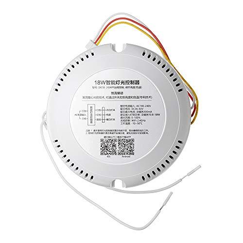 ZHENWOFC Wi-Fi-Dimmer-Controller-LED-Treiber von AC180-240V mit 18 W arbeitet mit Alexa Google Home LED-Licht (Dimmer Lichtschalter Installieren)