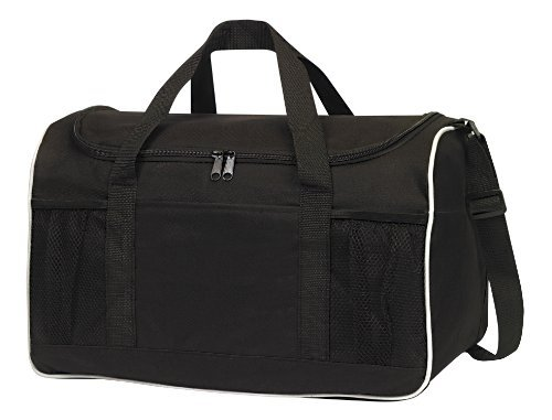Bags for Less Sports Gym Duffel Bag Large Zipper Opening , Black
