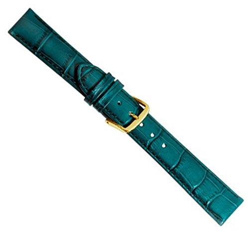 Louisiana Print XL Ersatzband Uhrenarmband Leder Petrol 21905G-XL, Anstoß:14 mm