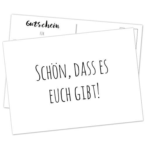 Hochzeitsspiel - Schön, dass es euch gibt! 52x Postkarten/ DIN A6 / Gutscheine für eine gute Ehe/ Geschenke für Brautpaar (Geschenk-karten Einlösen)
