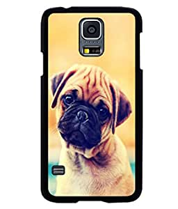 printtech Cute Pug Puppy Luck Back Case Cover for Samsung Galaxy S5 Mini::Samsung Galaxy S5 Mini G800F