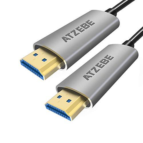 ATZEBE HDMI Glasfaser Kabel -10m, 4k HDMI Kabel unterstützt 4K@60Hz HDR, YUV4:4:4, 3D, ARC, CEC, HDCP 2.2