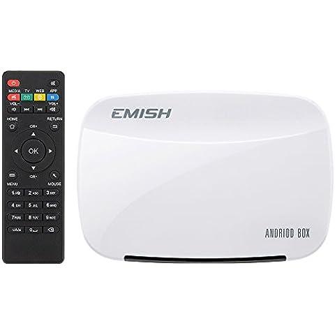 VicTsing Smart TV Box Android 4.4.4 Quad-Core XBMC Media Player Reproductor multimedia 1080P HDMI WIFI 3D Compatible con Netflix YOUTUBE Skype Soporte Adobe Flash, HTML5