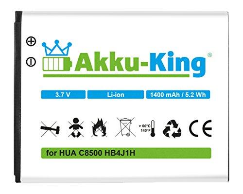 Akku-King Akku für Huawei C8500, U8150, IDEOS X3, Orange Stockholm, Vodafone 858 - Li-Ion ersetzt HB4J1, HB4J1H - 1400mAh
