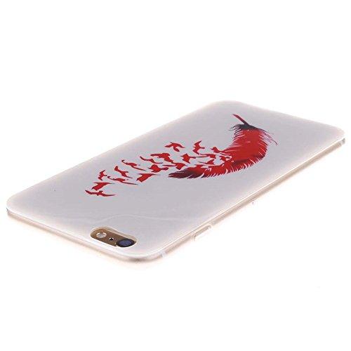 "Hülle für Apple iPhone 6 Plus 6S Plus 5.5"" Handyhülle Dünn Stil Licht Flexibel TPU Gel Case Bumper Malerei Muster Schwarz Löwe Farbe-4"