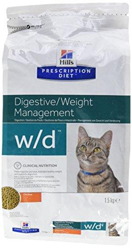 Prescription Diet w/d Feline mangime Secco per Il Controllo del Peso Gusto Pollo e Tacchino kg. 1,5