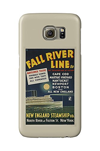 Fall River Line (Long Island Steamer) Vintage Poster c. 1935 (Galaxy S6 Cell Phone Case, Slim Barely There) -