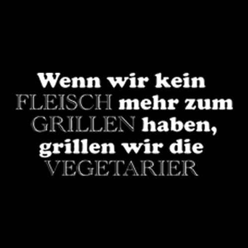 Grillshirt: Wenn wir kein Fleisch mehr zum Grillen haben - grillen T-Shirt Fb schwarz Schwarz