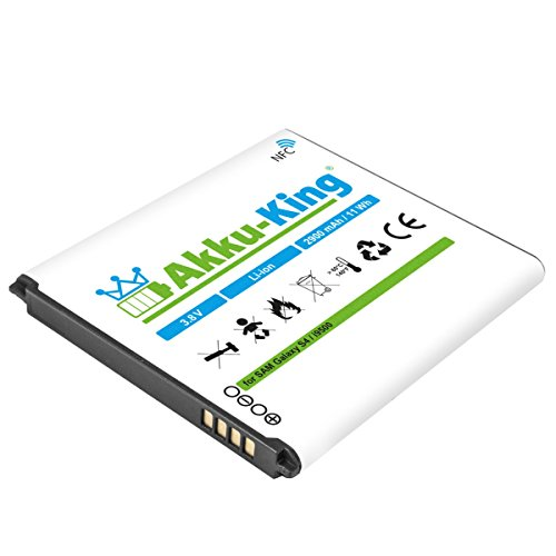 Akku-King Akku für Samsung Galaxy S4, S4 Active i9295, i9500, LTE i9505, i9506 - Li-Ion 2900 mAh - mit NFC (Akku Für S4)