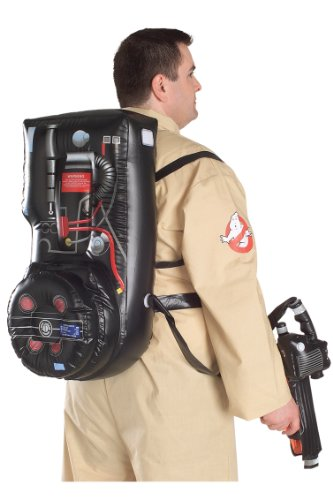 Official Ghostbusters XL Jumpsuit and Inflatable Proton Pack Adult Fancy Dress Costume Plus Size