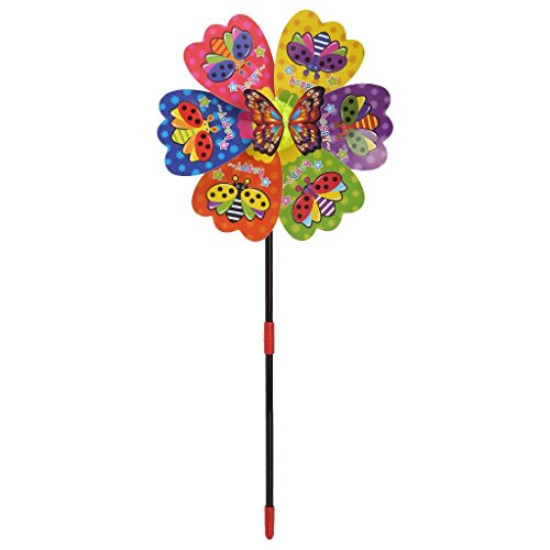 Ogquaton 6 Wheels Luminous Windmill Kid Toys Garden Ornaments Colorful Outdoors Wind Spinner Durable and Practical