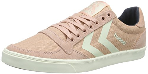 Hummel Slimmer Stadil Herringbone Low, Baskets Basses Femme Rose (Misty Rose)