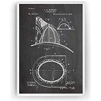 Sombrero de Bombero Poster de Patente Patent Póster Con Diseños Patentes Decoracion de Hogar Inventos Carteles Prints Wall Art Posters Regalos Decor Fireman's Hat Blueprint - Marco No Incluido