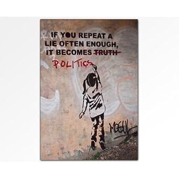 Banksy Wandbild Leinwandbild 100x70cm K Poster Bild Fertig Auf