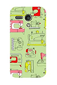 ZAPCASE Printed Back Case for MOTO G