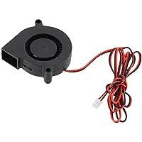 UEETEK 5015 DC 12V 0.18A Lüfter für 3D-Drucker,Turbine Gebläse Kühlerlüfter, ideal für Kühlung Kühlkörper am heißen Ende, 3D Drucker Zubehör, schwarz