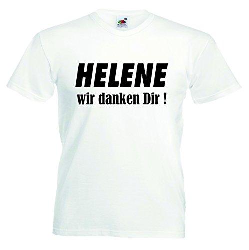 Herren T-Shirt Helene Motiv04 T-Shirt Weiss 3XL