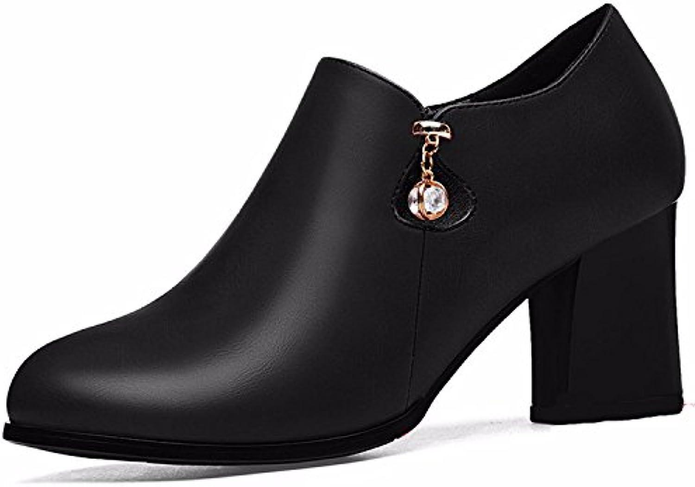 HBDLH Calzado de mujer/transpirable/cómodo/Zapato De Tacon Sola Mujer Medio Tacón Primavera 7 Cm Zapatos De Tacon...