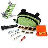 Fahrradreparatur-Werkzeugsatz, 30 in 1 Multifunktions Fahrrad Mechaniker Fix Tragbare Werkzeuge Set Tasche mit Mini Fahrradpumpe, Multitool, Reifenheber und Selbstklebendes Fahrrad Flicken