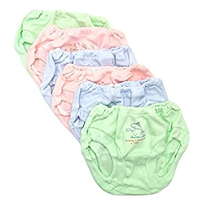 Baby Bucket Soft Cotton Baby Girl's & Boy's Panties Set of 6