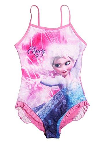 Frozen Badeanzug Die Eiskönigin 2018 Kollektion 98 104 110 116 122 128 Anna Völlig Unverfroren Anna und ELSA Blau (110, Fuchsia) (Mädchen Frozen Bikini)