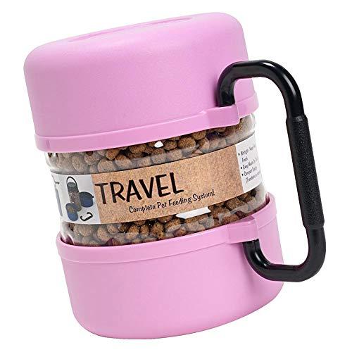 iYoung® Hundenapf Pet Out Bowl Kunststoff Aufbewahrungsbox Fächer Verstellbarer Teiler Organizer Schmuck Ohrring Werkzeugbehälter (2 Packungen, 2 Farben)
