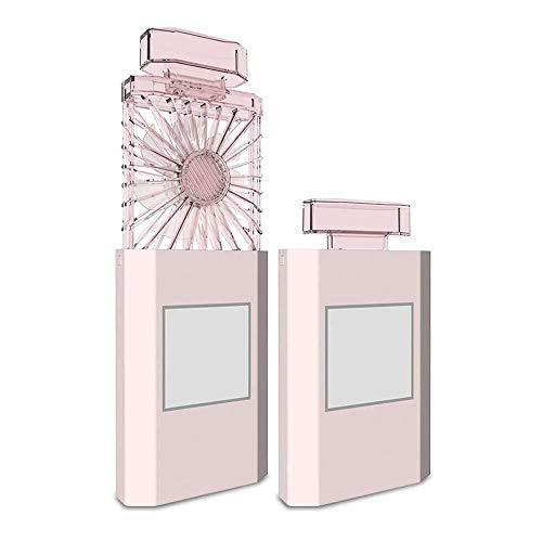 rer Mini-Lüfter, Wiederaufladbarer USB-Lüfter Für Studentenwohnheime GAOFENG (Color : Pink, Size : 7.8 * 2.8 * 5.7CM) ()