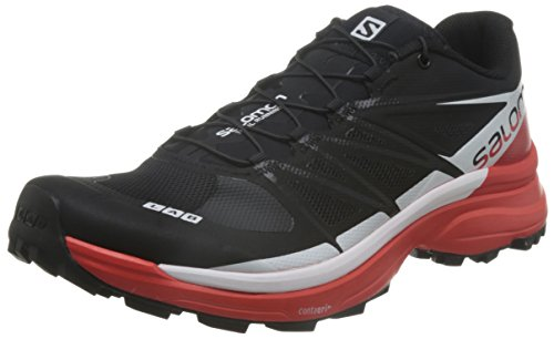 Salomon L39195900, Zapatillas de Senderismo Unisex Adulto, Negro (Black / Racing Red...