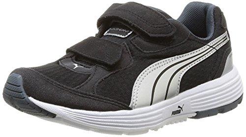 Puma Descendant V Kids, Baskets mode mixte bébé Noir (Black/Puma Silver)