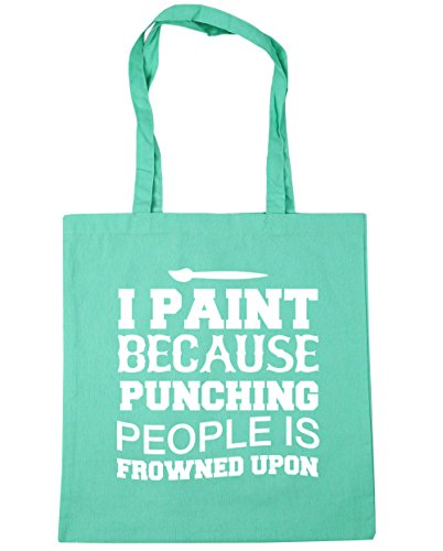 hippowarehouse-i-paint-because-punching-people-is-frowned-upon-tote-shopping-gym-beach-bag-42cm-x38c
